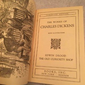 Vtg 1936 The works of Charles Dickens Volume VII